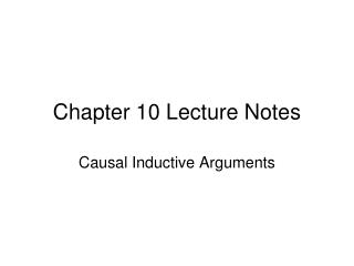 Chapter  10 Lecture Notes