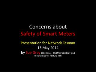 Concerns about  Safety of Smart Meters