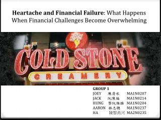 Heartache and Financial Failure : What Happens When Financial Challenges Become Overwhelming