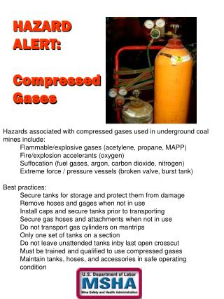 HAZARD ALERT: Compressed Gases