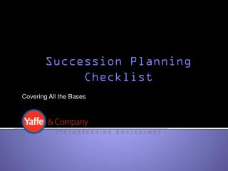 Succession Planning Checklist