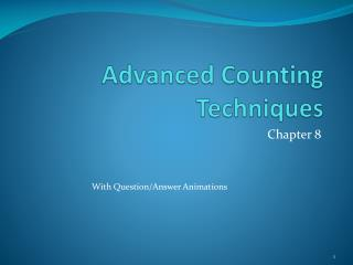 Advanced Counting Techniques