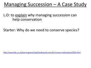Managing Succession – A Case Study