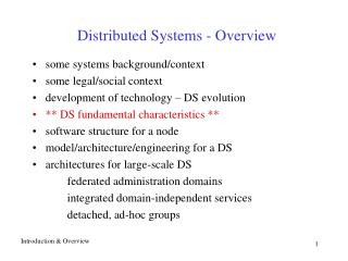 Distributed Systems - Overview