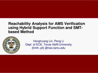 Reachability  Analysis for AMS Verification using Hybrid Support Function and  SMT-based  Method
