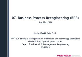 07. Business  Process Reengineering (BPR)