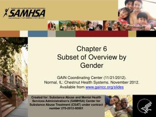 Chapter 6 Subset of Overview by  Gender