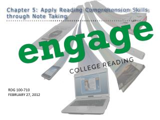 Chapter 5: Apply Reading Comprehension Skills  through Note Taking