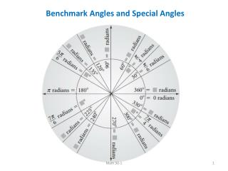 Benchmark Angles and Special Angles