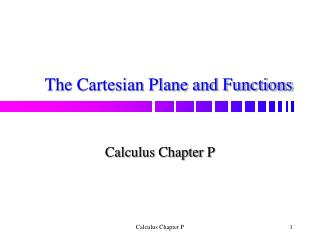 The Cartesian Plane and Functions