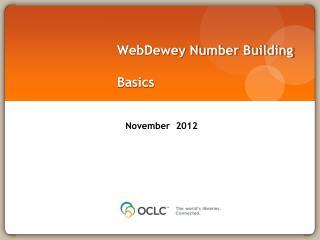 WebDewey Number Building Basics