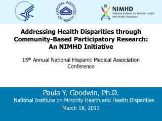 Addressing Health Disparities through Community-Based Participatory Research: An NIMHD Initiative
