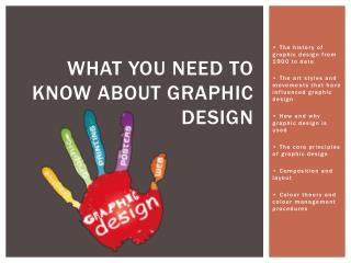 What you need to know about graphic design