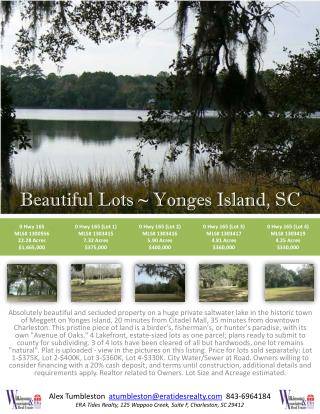 Beautiful Lots ~ Yonges Island, SC