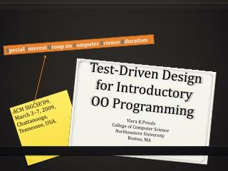Test-Driven Design for Introductory OO Programming