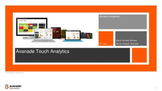 Avanade Touch Analytics