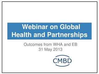 Webinar on Global Health and Partnerships