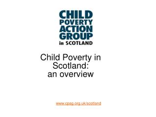 Child Poverty in Scotland:  an overview