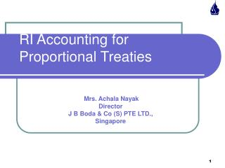 RI Accounting for Proportional Treaties