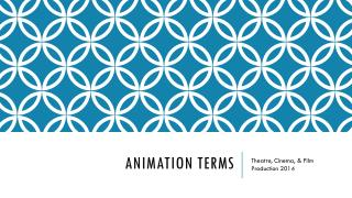 Animation terms