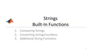 Strings Built-In Functions
