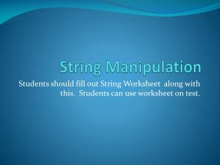 String Manipulation