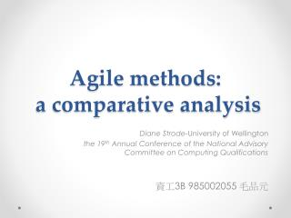 Agile  methods : a comparative  analysis