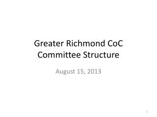 Greater Richmond CoC Committee Structure