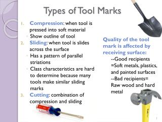 Types of Tool Marks