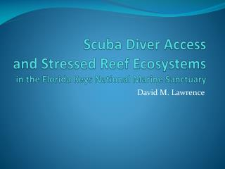 Scuba Diver Access and Stressed Reef Ecosystems in the Florida Keys National Marine Sanctuary