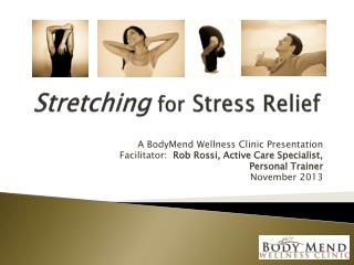 Stretching for Stress Relief
