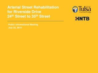 Arterial Street Rehabilitation for Riverside Drive 24 th  Street to 35 th  Street
