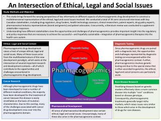 An Intersection of Ethical, Legal and Social Issues