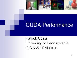 CUDA Performance