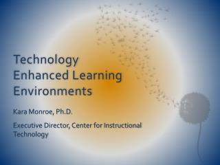 Technology Enhanced Learning Environments