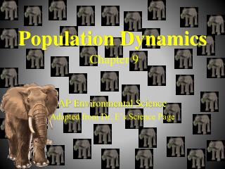 Population Dynamics Chapter 9