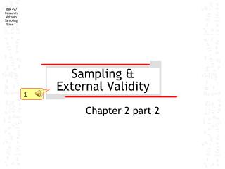Sampling & External Validity