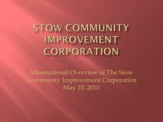 Stow Community Improvement Corporation