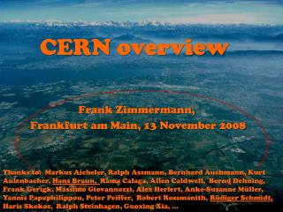CERN overview
