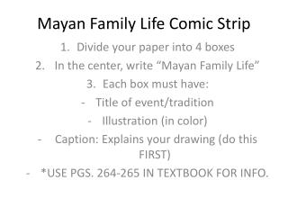 Mayan Family Life Comic Strip