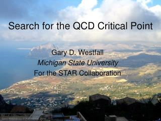 Search for the QCD Critical Point