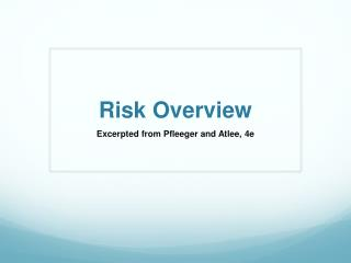 Risk Overview