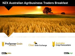 NZX Australian Agribusiness Traders Breakfast