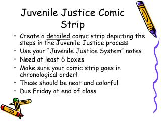 Juvenile Justice Comic Strip