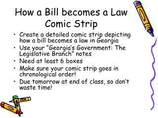 How a Bill becomes a Law Comic Strip