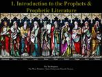 1. Introduction to the Prophets  Prophetic Literature