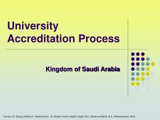 University Accreditation Process