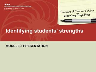 Identifying students' strengths