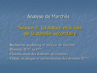 Analyse de March s