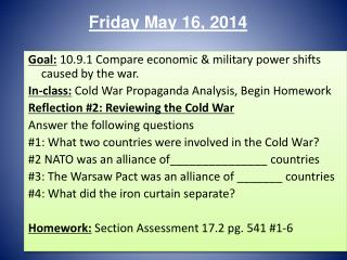 Friday May 16, 2014